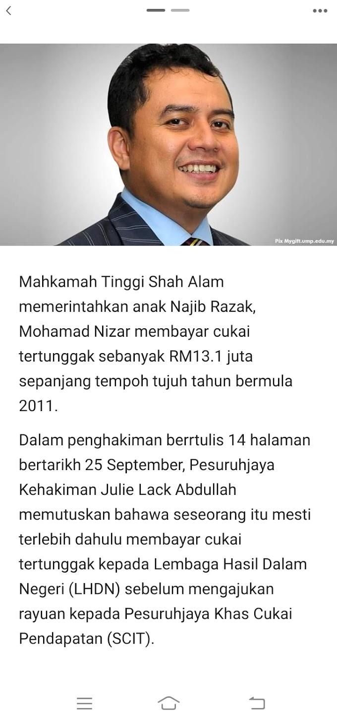 RM13 Juta.. Ini Ker Sebab Najib & Zahid Melalut?