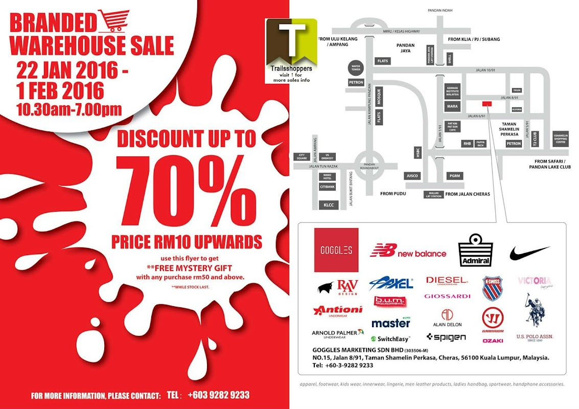 Goggles Branded Warehouse Sale 2016