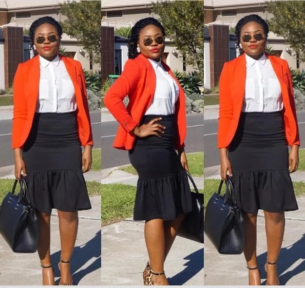 AMAZING OFFICE GOWN STYLES FOR NIGERIAN LADIES IN 2019 3