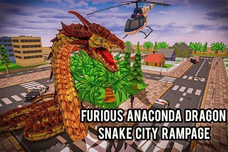 Furioso anaconda dragão serpente cidade rampage 1.0 Mod Apk 8
