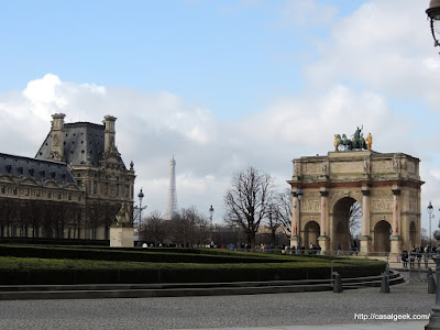Casal Geek Eurotour 2013 - Descobrindo Paris - Dicas e Considerações Finais - Arc de Triomphe du Carrousel