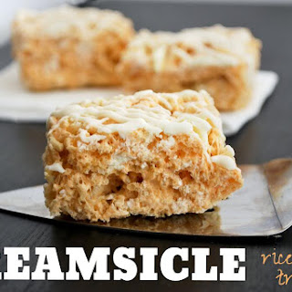 Creamsicle Rice Krispy Treats
