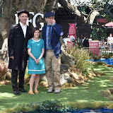 OIC - ENTSIMAGES.COM - Mark Rylance, Ruby Barnhill  and  Director Steven Spielberg at the UK premiere of THE BFG  in London  17th July 2016 Photo Mobis Photos/OIC 0203 174 1069