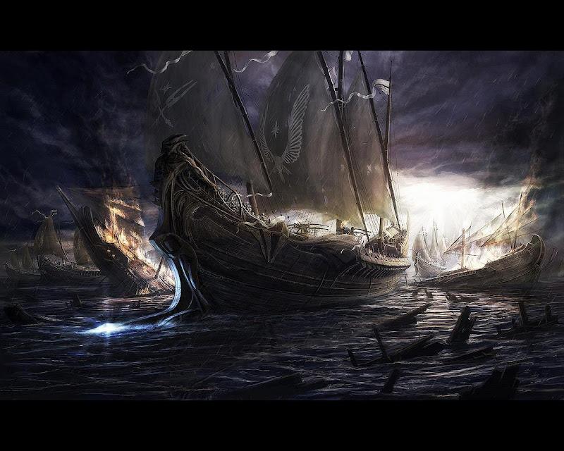 Dark Ships, Magical Landscapes 1