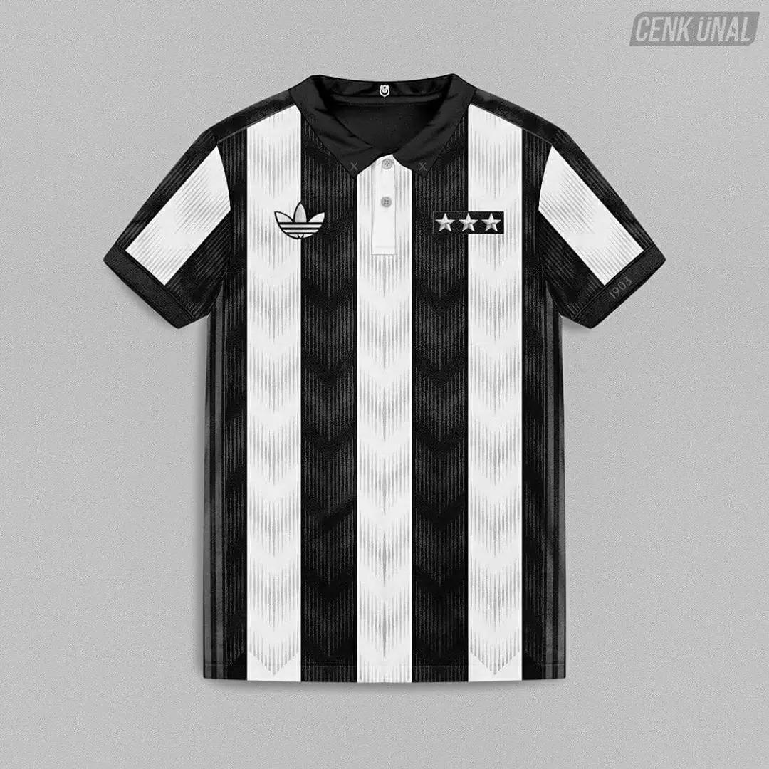 gambar foto jersey konsep besiktas away 2020-2021