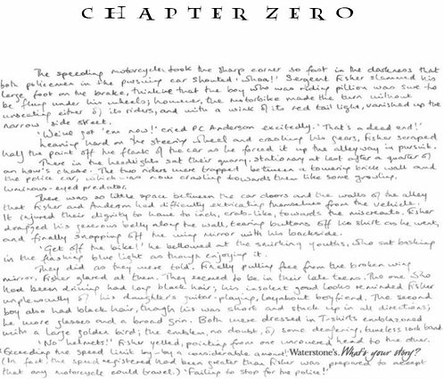 J.K. Rowling - Chapter Zero