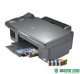How to reset flashing lights for Epson DX6050 printer