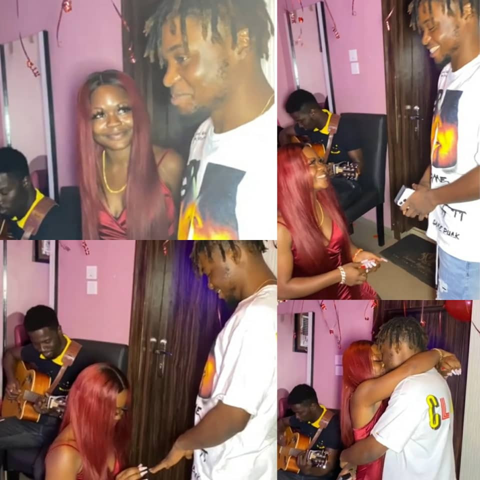 A skit? Nigerian lady proposes to her man (video)