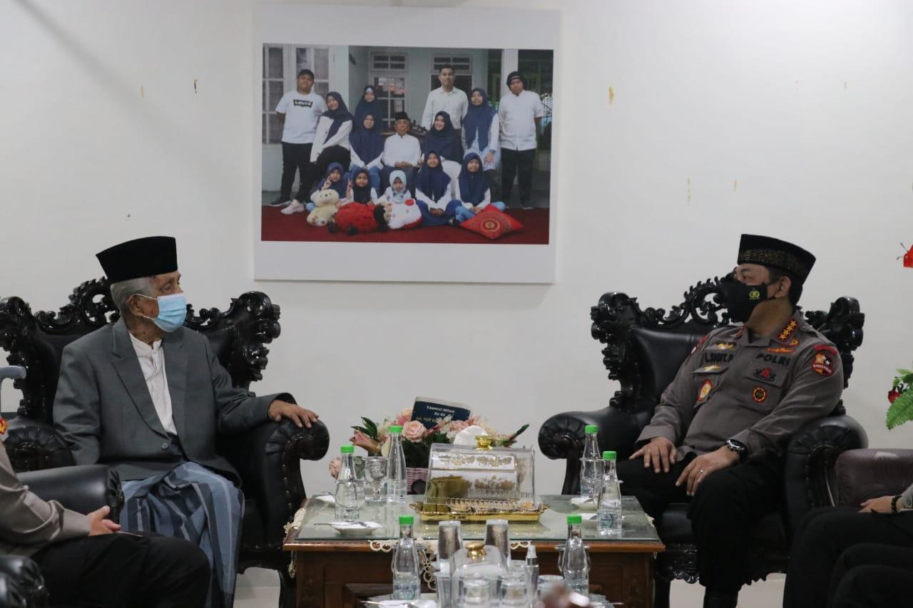 Kunjungi Ketua MUI Sulsel, Kapolri : Dukungan Ulama Sangat Penting Guna Menjaga Kamtibmas