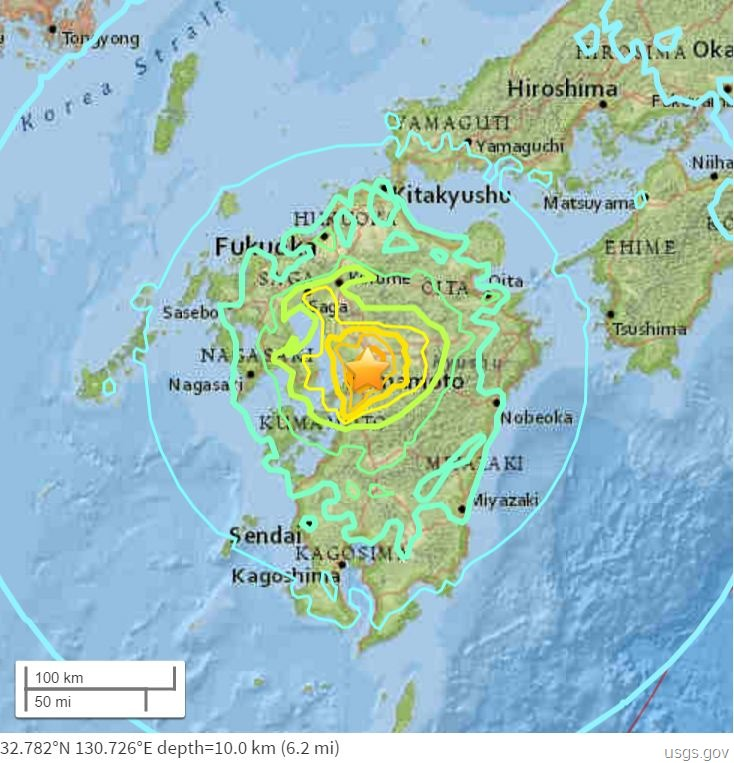 Japan earthquake 16Apr2016