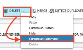 条件設定にはCoutomise Commandを選択