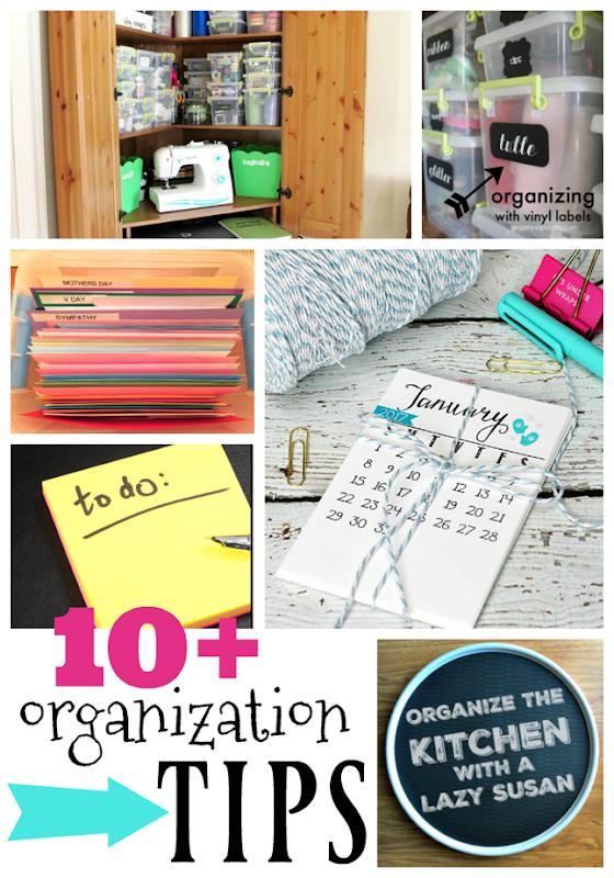 10  Organization Tips at GingerSnapCrafts.com #organization #tipsandtricks