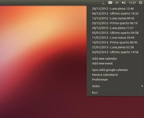 Google Calendar Indicator su Ubuntu 12.10