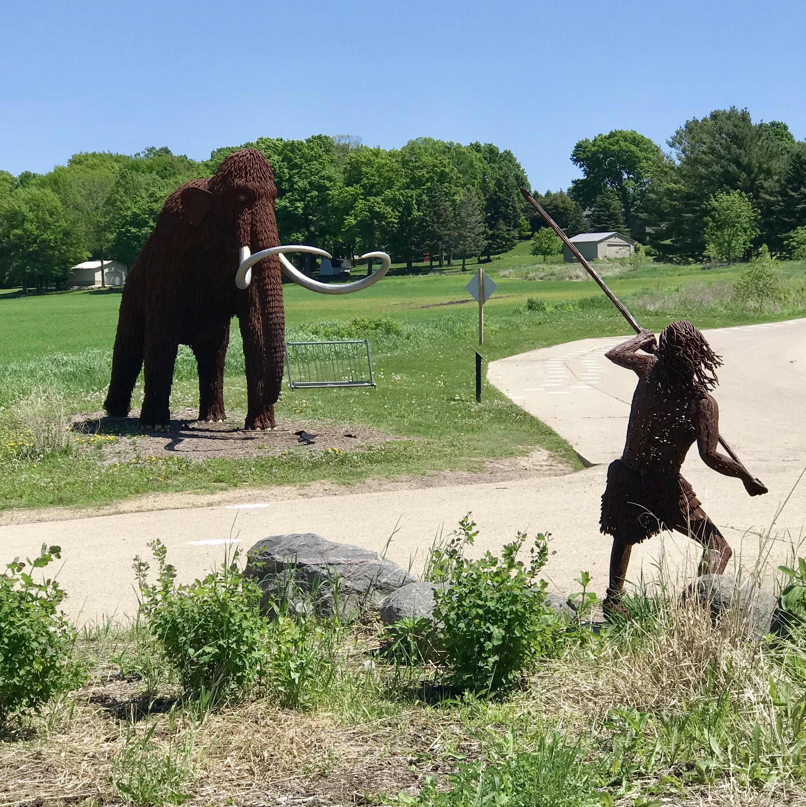 Tubal Cain hunting an antediluvian beast?