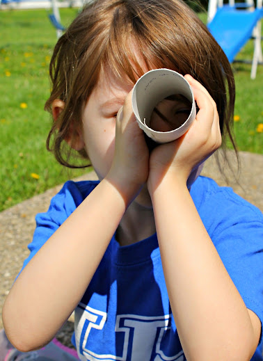 Those cardboard tubes make great telescopes, too!