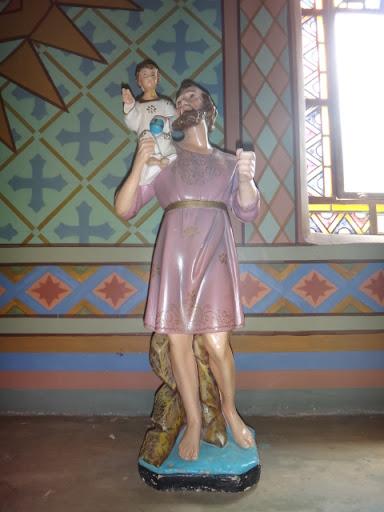 Imagem de São Cristóvão - Santuário Sagrado Coração de Jesus, Vera Cruz/SP