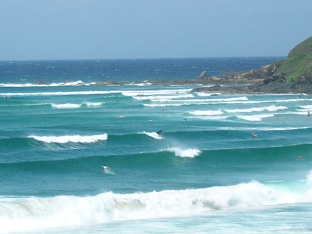 The waves at Byron Bay