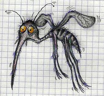Комары - коротковолновые телепортанты