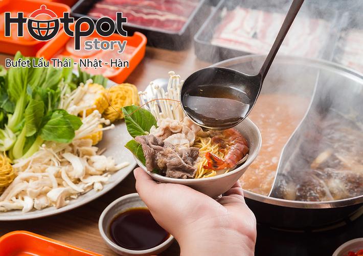 Buffet Lẩu, Bò Mỹ, Bò Úc, Hải Sản - Hotpot Story Tân An Đông