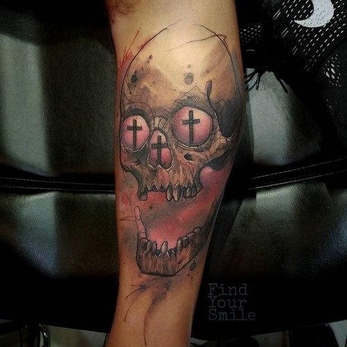 esta_proibindo_o_crnio_aquarela_tatuagem