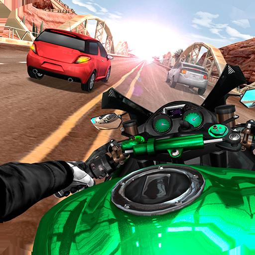 Download Moto Rider In Traffic
