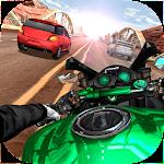 Moto Rider In Traffic Icon