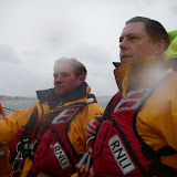 JK and Ade just wondering whether that's 100 litres of fuel or 10 litres ... Must try harder to understand decimal points! 23 September 2012 Photo: RNLI/Dave Riley