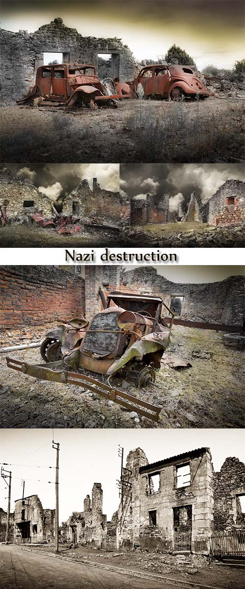 Stock Photo:  Nazi destruction