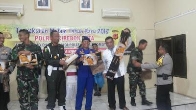 Perayaan Malam  Tahun Baru,WaliKota Apresiasi Kinerja Kapolres Cirebon  Kota