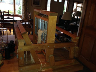 small table-sized weaving loom