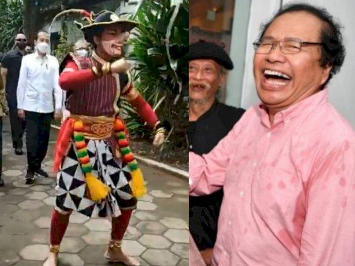 Jokowi Disambut Tarian Petruk Hidung Panjang, Sindiran Rizal Ramli: Sudah Jelas Arahnya