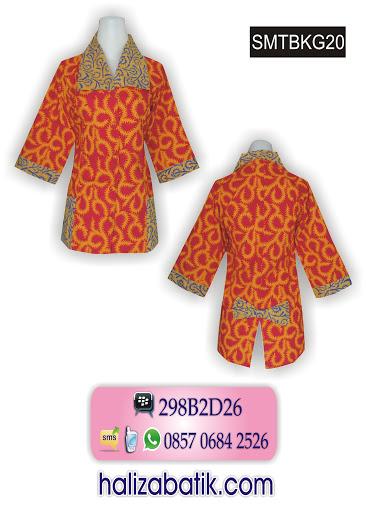 Model Baju Kerja Batik Wanita