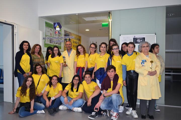 Visita dos alunos da ESFOSOL à Unidade Hospitalar de Lamego