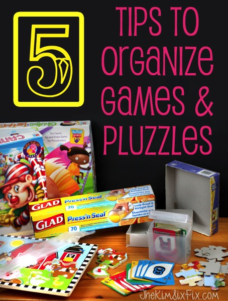 Organize Board Games, Card Games and Puzzle with these five tips. You will never lose those game pieces again!