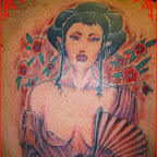 scapula naked - Geisha Tattoo