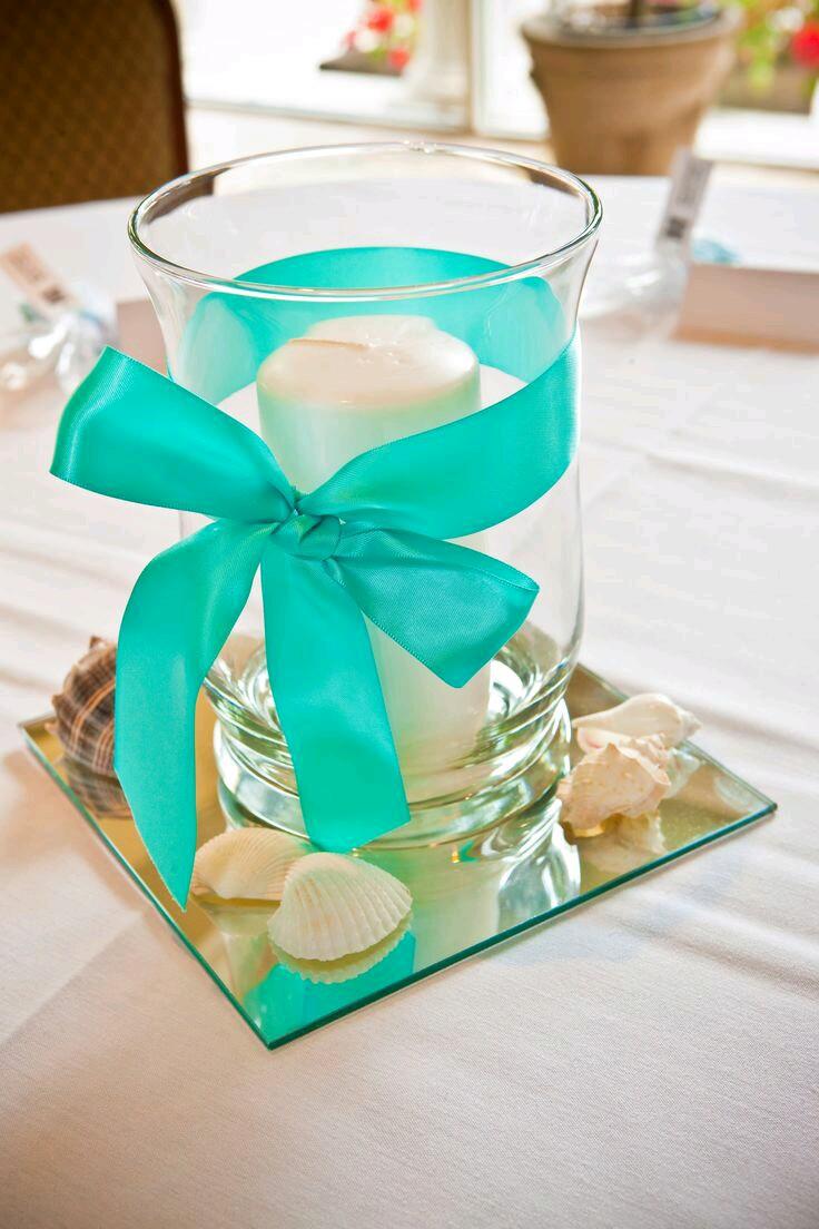 M s y m s manualidades crea hermosos centros de mesa con - Como hacer color turquesa ...