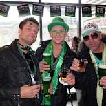 drinking green beers in Toronto, Ontario, Canada