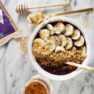 Acai Bowls with Granola and Bananas.