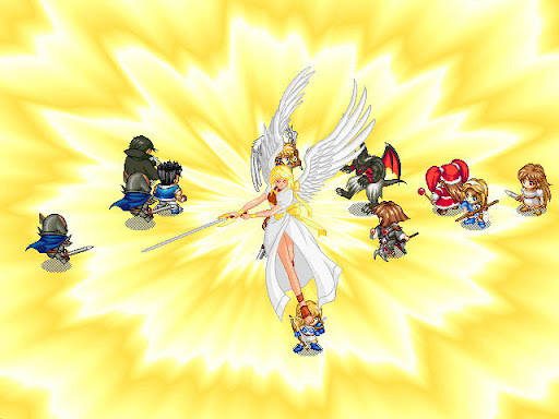 神奇传说 战斗画面截图 全屏召唤魔法