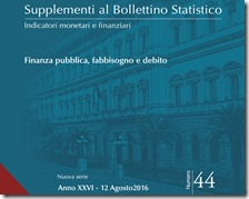 Supplementi al bollettino statistico. Agosto 2016