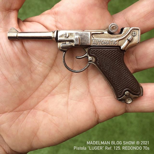 """Pistola  de juguete. """"LUGER"""" Ref. 125, Redondo años 70"""