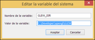 GLEW_DIR variable de sistema