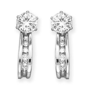 Diamond Earring Jackets-14K White Gold 1/4 ct
