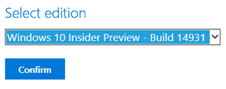 Select Windows 10 Insider Preview Edition (www.kunal-chowdhury.com)