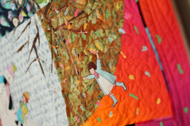 Seasons of Play Quilt details