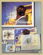 """Photo: """"Gilles à la Baule"""",1976, peinture acrylique sur toile"""