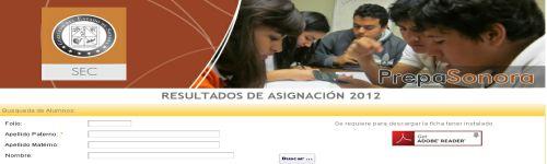 Resultados examen Prepa Sonora 2012
