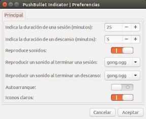 técnica Pomodoro en Ubuntu - configuración