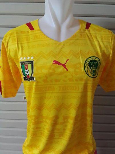 Jual Jersey Kamerun Away Warna Kuning Terbaru 2014