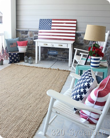 4th of july porch